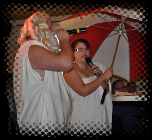 Zeus und Hera Mit-dem-Zaster verkünden das neue Karnevalsmotto